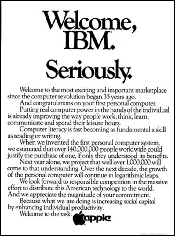 Welcome-IBM.-seriously-ad